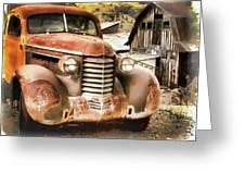 Car Full Of Memories, Ghost Town, Jerome, Arizona Greeting Card