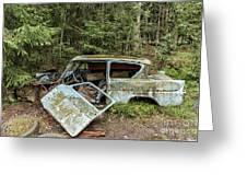 Car Graveyard In Smaland Greeting Card