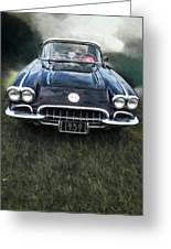 Car On The Grass Greeting Card