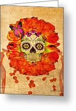 Cara De La Flor Greeting Card