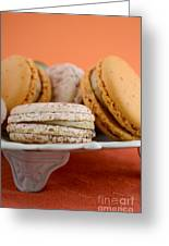 Caramel And Vanilla Macaroons Greeting Card