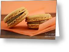 Caramel Orange Macarons Greeting Card