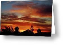 Caramel Sunset Greeting Card