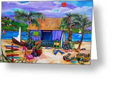 Cara's Island Time Greeting Card by Patti Schermerhorn