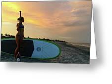 Carbon Fiber Paddle Sup Greeting Card