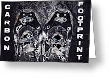 Carbon Footprint Greeting Card