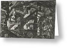 Carceri Series, Plate Xiv Greeting Card