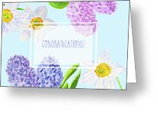 Card With Spring Flowers Greeting Card