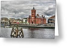 Cardiff Bay Skyline Greeting Card