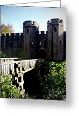 Cardiff Castle Gate Greeting Card