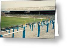 Cardiff - Ninian Park - East Stand Railway Side 3 - August 1991 Greeting Card
