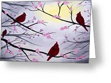 Cardinal Blossoms Greeting Card