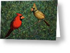 Cardinal Couple Greeting Card