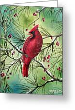 Cardinal Greeting Card by David G Paul