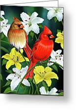 Cardinal Day 2 Greeting Card