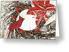 Cardinal Holiday I Greeting Card