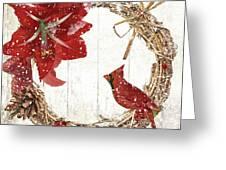 Cardinal Holiday II Greeting Card