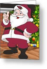 Cardinals Santa Claus Greeting Card