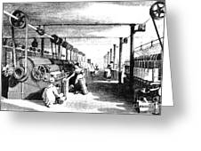 Carding Engine And Drawing Frame, 1835 Greeting Card