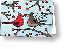 Cardnials In Love Greeting Card