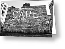 Care Graffiti Building Greeting Card by Alanna Pfeffer