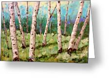 Carefree Birches Greeting Card