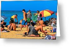 Carefree In Waikiki Greeting Card