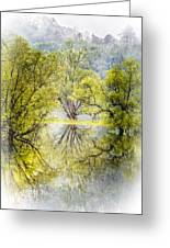 Caress In The Mist Greeting Card
