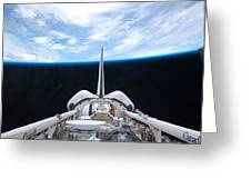 Cargo Bay Of Atlantis On Sts-132 Greeting Card by Artistic Panda