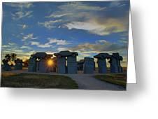 Carhenge - Nebraska - Sunset Greeting Card