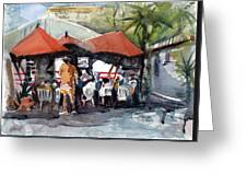 Caribbean Bar-theatre Barbados Style Greeting Card