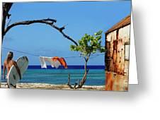 Caribbean Blues 3 Greeting Card