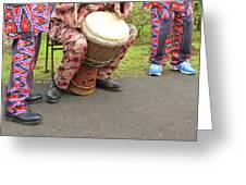 Caribbean Musicians. Greeting Card