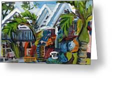 Caribbean Outdoor Market Greeting Card