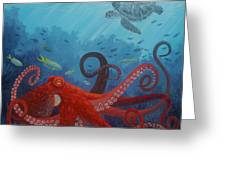 Caribbean Reef Octopus Greeting Card