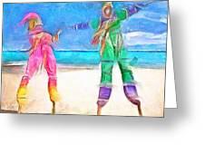 Caribbean Scenes - Moko Jumbie Greeting Card
