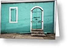 Caribbean Storefront Greeting Card