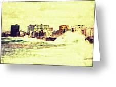 Caribbean Waves Greeting Card