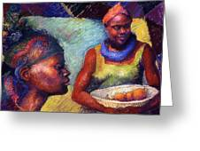 Caribbean Women With Oranges Greeting Card