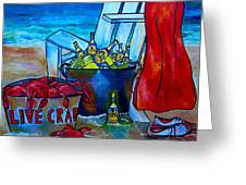 Caribe And Crab Greeting Card