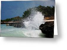 Caribe Splash Greeting Card