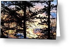 Cariboo District Sunset Greeting Card