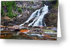 Caribou Falls Cascade Greeting Card