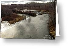 Caribou Stream Looking East Greeting Card