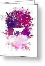 Caribou Winter Art Greeting Card
