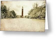 Carillon In The Snow Greeting Card