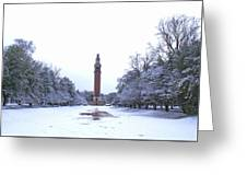 Carillon In Winter Greeting Card