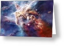 Carina Nebula Pillar Greeting Card