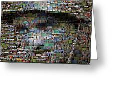 Carl Caddyshack Mosaic Greeting Card