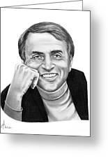 Carl Sagan Greeting Card by Murphy Elliott